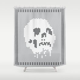 Skull Tile Shower Curtain