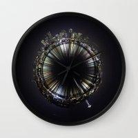 seattle Wall Clocks featuring seattle by Aaron Morris