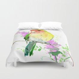 Lovebird and Flower Duvet Cover