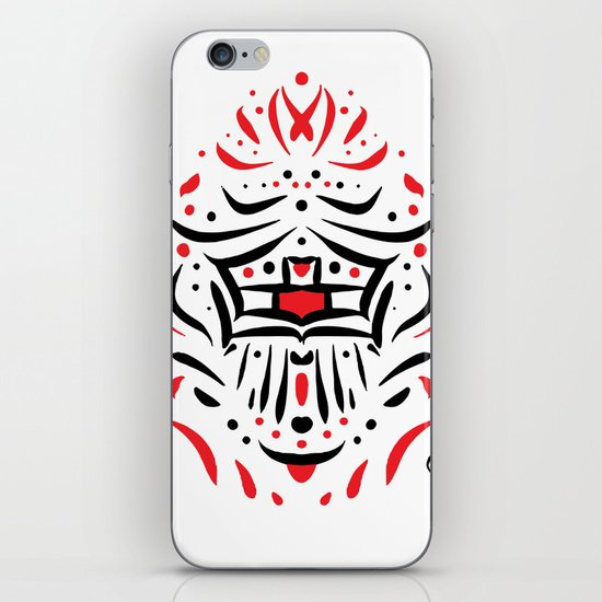 Temple of faces iPhone & iPod Skin