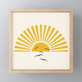 Minimalistic Summer I Framed Mini Art Print