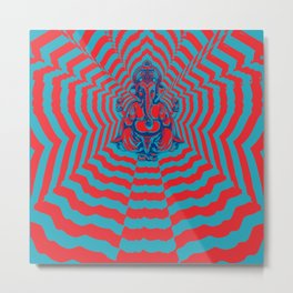 Ganesh Power Metal Print
