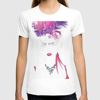 burlesque T-shirts featuring Burlesque by Kats Illustration