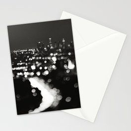 Los Angeles cityscape. L.A. Noir Stationery Cards