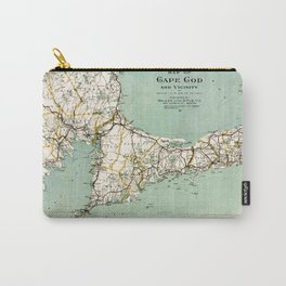 Cap Cod and Vicinity Map Carry-All Pouch