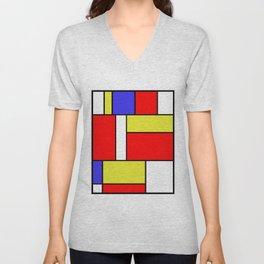 Mondrian #57 Unisex V-Neck