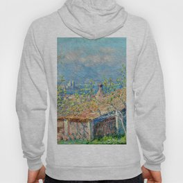 "Claude Monet ""Gardener's House at Antibes"", 1888 Hoody"