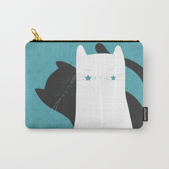 Black White Cats Carry-All Pouch