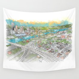 Pittsburgh Aerial Wall Tapestry