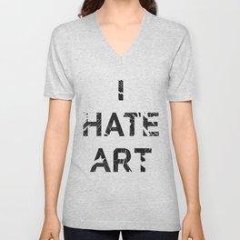 I HATE ART / PAINT Unisex V-Neck