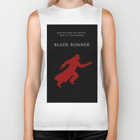 blade runner Biker Tanks featuring BLADE RUNNER by tanman1
