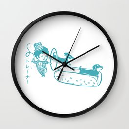 OH MY GOR - Hot Dog Trainer Wall Clock