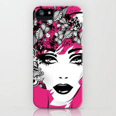 fashion illustration Slim Case iPhone (5, 5s)