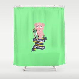 Skateboarding is my Superpower T-Shirt Daido Shower Curtain
