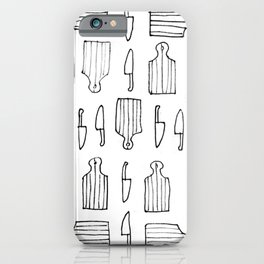Cutting at the Kitchen Marker Art iPhone Case