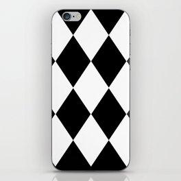 HARLEQUIN BLACK AND WHITE iPhone Skin