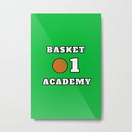 Basket Academy Metal Print