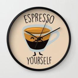 Espresso Yourself Wall Clock