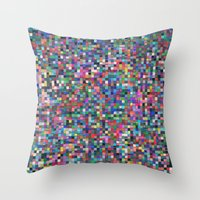 stained glass Throw Pillows featuring stained glass by spinL