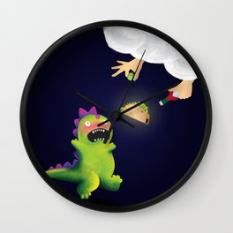 Tacosaurus Wall Clock