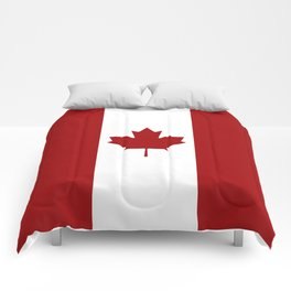 Canada: Canadian Flag (Red & White) Comforters