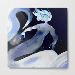 DEEP SEA MERMAN Metal Print