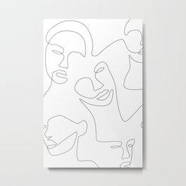 Smile Lines Metal Print