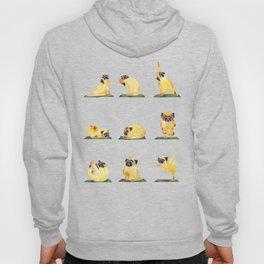 Pug Yoga Watercolor Hoody