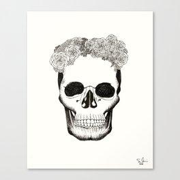 Calavera en Recuerdo Canvas Print