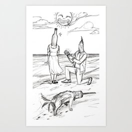 How cute. Art Print
