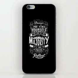 Lab No. 4 Whenever You Find Yourself Mark Twain Quotes iPhone Skin