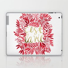 That's Life – Gold & Red Laptop & iPad Skin