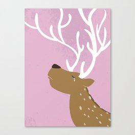 Crying Deer Canvas Print