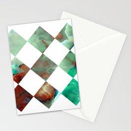 MARBLED ONYX & GEOMETRIC I Stationery Cards