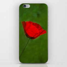 Red Poppy iPhone Skin