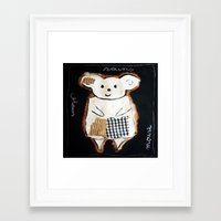 mouse Framed Art Prints featuring mouse by woman