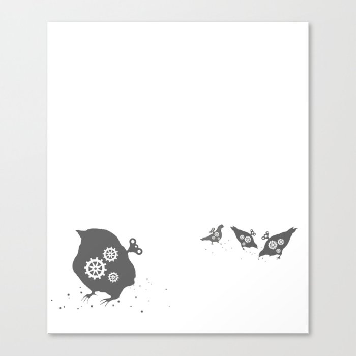 In which wind-up birds happen Canvas Print
