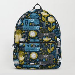 Garden of Sewing Supplies - Navy Backpack