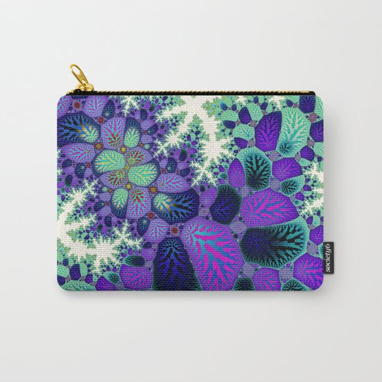 Leafy Nosegay Fractal Carry-All Pouch