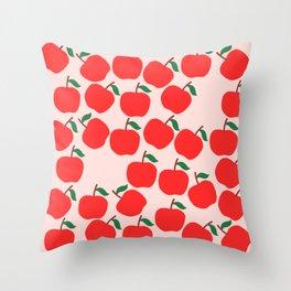 Cute Apple Throw Pillow