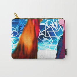 Rooster lady art graphic  Carry-All Pouch