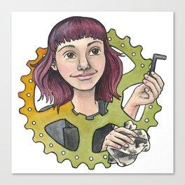 Bike Mechanic Canvas Print