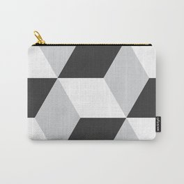 Cubism Black and White Carry-All Pouch