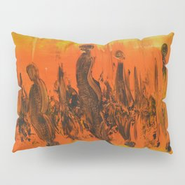 Abstract People Sunset Pillow Sham