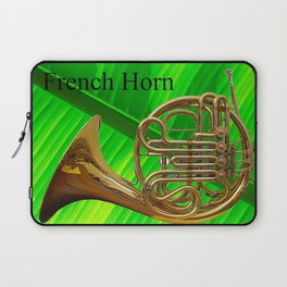 French Horn on a Really Big Leaf Laptop Sleeve