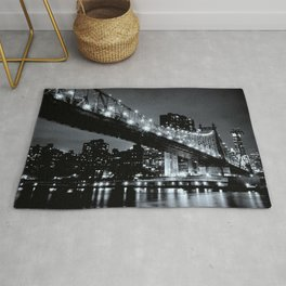 New York Night Black & White Rug