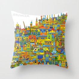 City of Jerusalem Throw Pillow