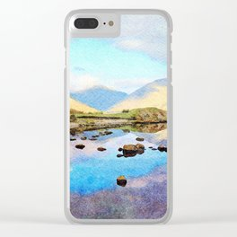 """""""Enough Blue Sky"""" Derwentwater Reflections, Lake District, UK Clear iPhone Case"""