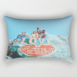 Salvation Mountain Rectangular Pillow
