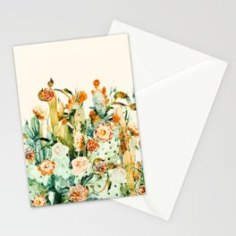 Succulent flowered cactus Stationery Cards